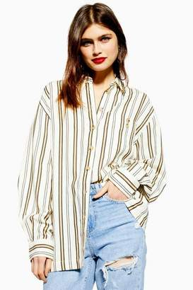 Topshop Womens Stripe Casual Shirt