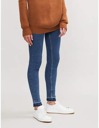 Maje Jawbleu raw-hem skinny mid-rise jeans
