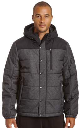 Champion Men's Colorblock Quilted Hooded Puffer Jacket