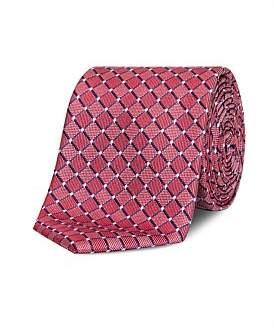 Van Heusen Blue & Red Floral Tie