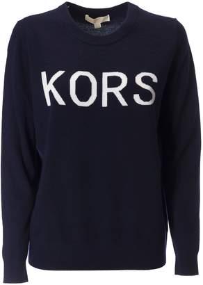 Michael Kors Logo Intarsia Sweater