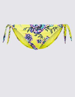Marks and Spencer Floral Print Tie Side Bikini Bottoms