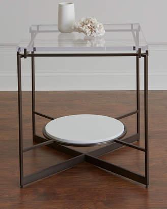 Hooker Furniture Emmeline Metal and Acrylic Side Table
