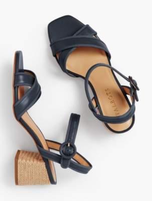 Talbots Siena Rope Heel Sandals - Soft Nappa