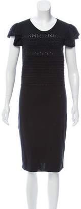 RED Valentino Short Sleeve Midi Dress