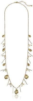 Vera Bradley Petals Cluster Strand Necklace in Gold Tone