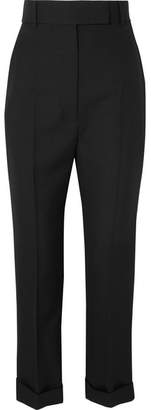 Wool Straight-leg Pants - Black