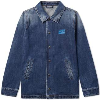 Kenzo Washed Denim Coach Jacket