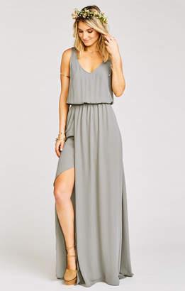 Show Me Your Mumu Kendall Maxi Dress ~ Soft Charcoal Crisp