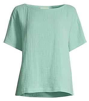 Eileen Fisher Women's Organic Cotton Lofty Short-Sleeve Top