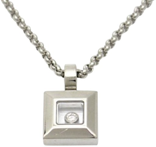 Chopard Chopard Happy Diamond 750 White Gold Necklace