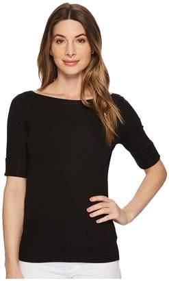 Lauren Ralph Lauren Stretch Cotton Boat Neck Tee Women's T Shirt