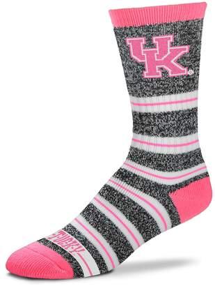 For Bare Feet Women's Kentucky Wildcats Striped Crew Socks
