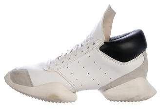 Rick Owens x Adidas Runner Leather Sneakers