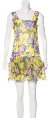 Anna Sui Ruffle-Accented Midi Dress w/ Tags