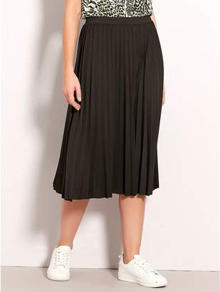 M&Co Petite pleated midi skirt