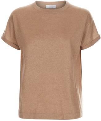 Brunello Cucinelli Lurex Knit T-Shirt