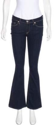 Rag & Bone Low-Rise Flared Jeans