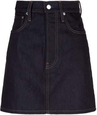 Helmut Lang Femme Raw Denim Mini Skirt