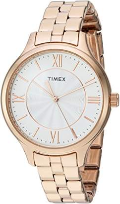Timex Women's TW2R28000 Peyton Rose Gold-Tone Stainless Steel Bracelet Watch