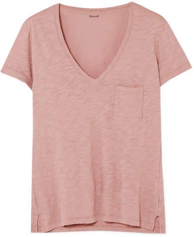 Madewell - Whisper Slub Cotton-jersey T-shirt - Antique rose