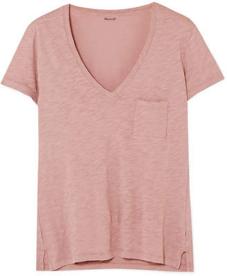 Madewell Whisper Slub Cotton-jersey T-shirt - Antique rose