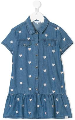 Little Marc Jacobs heart embroidered denim dress
