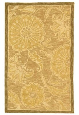 Fleur De Lis Living Brayton Hand-Hooked Wool Light Brown Area Rug Fleur De Lis Living