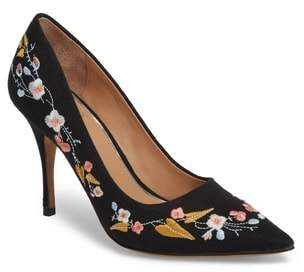 Linea Paolo Paisley Embroidered Pump