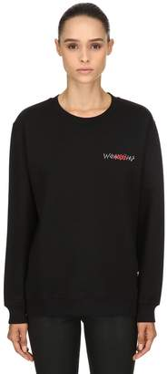 032c Logo Detail Organic Cotton Sweatshirt