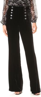 Nanette Lepore Velvet Sailor Pants $448 thestylecure.com