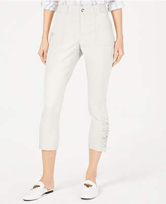 INC International Concepts I.n.c. Ruched-Hem Cropped Pants