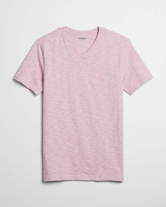 Express Slim Stretch Space Dyed V-Neck Tee
