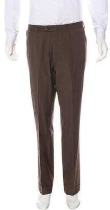 Isaia Flat Front Woven Pants