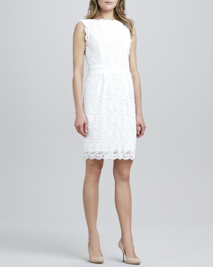 Shoshanna Nyla Sleeveless Lace Overlay Dress