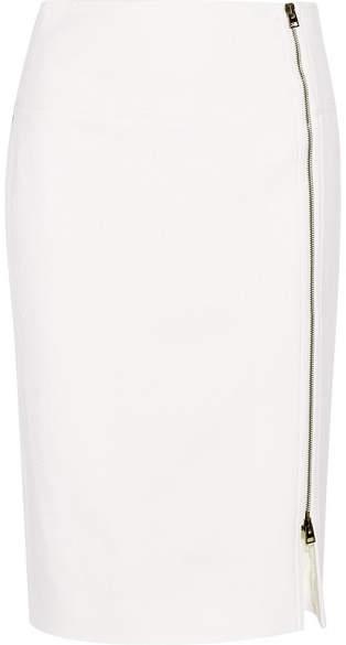 TOM FORD - Wool-blend Twill Pencil Skirt - Ivory