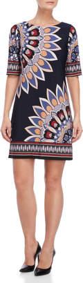 Sandra Darren Petite Printed Sheath Dress