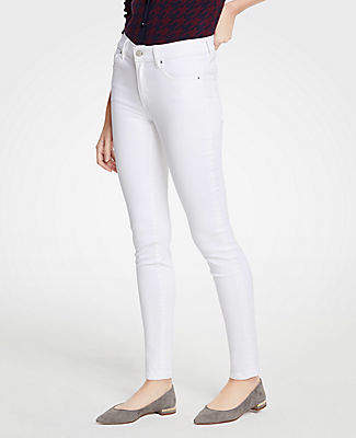 Ann Taylor Skinny Jeans In White
