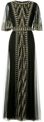 Tadashi Shoji embroidered maxi dress