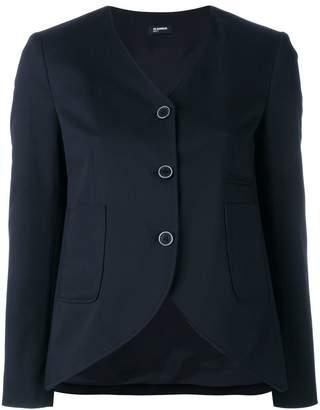 Jil Sander Navy curved hem jacket