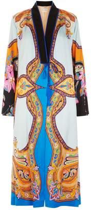 Etro Paisley Floral Crepe Coat