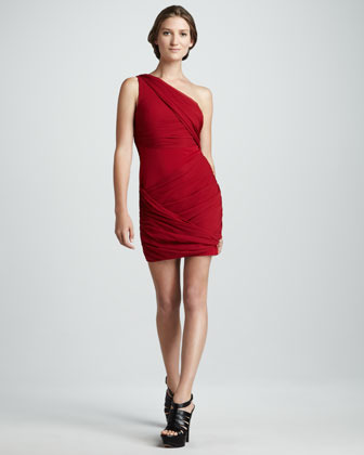 Alice + Olivia Wrapped Goddess Dress, Red