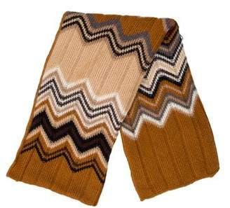 Missoni Patterned Rib Knit Scarf