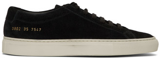 Common Projects Woman By Woman by Black Suede Original Achilles Low Sneakers