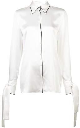 Maison Margiela satin shirt with wrap sleeves