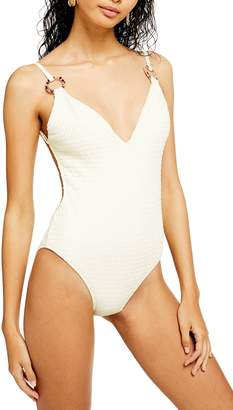 Topshop Plunge One-Piece Swimsuit