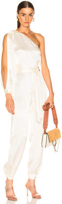 HANEY Emerson Jumpsuit in Ivory | FWRD