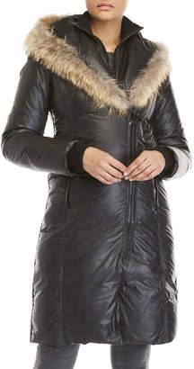 Atelier Noir By Rudsak Real Fur Trim Hooded Down Coat