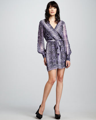 What Goes Around Comes Around Christy Snake-Print Dress