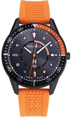 Nautica N83 Men NAPSPS901 Surf Park Orange/Black Silicone Strap Watch